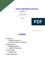 Segment and Interval Tree