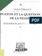 Platon et la question de la pensée