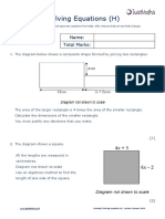 Algebra H Forming Solving Equations v2