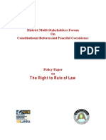 Policy Paper on the Right to Rule of Law