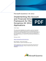 Implementing the Account and Financial Dimensions Framework for Microsoft Dynamics AX 2012 Applications