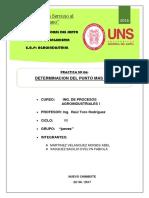 Informe 6 Procesos Determinacion Del Punto Mas Frio