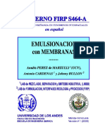 Cuaderno FIRP S464A. Emulsionación con Membranas