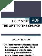Holy Spirit-Gift to Church-Part2