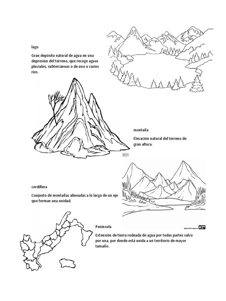 Accidentes Geográficos Para Colorear