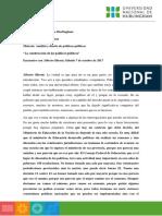 """Prof. Alberto Sileoni- """"La construcción de las políticas públicas en educación"""""""