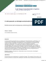 O Reforçamento Na Biologia Evolucionária Atual