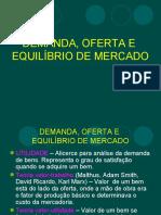 Aula Demanda, Oferta e Equilíbrio de Mercado