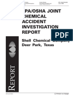 Accident Investigation Report - Shell Chemical Company, Deer Park, Texas