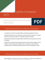 Advocacy Coalition Framework (ACF)2016