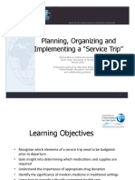 5 Planning Organizing Implementing a Service