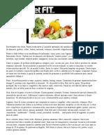Lista cu alimente pentru slabire