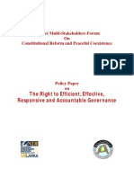 Policy Paper on the Right to Efficient, Effective, Responsive and Accountable Governance