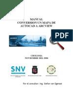 SIG CHO PC Manual Conversion Un Mapa de AutoCAD a ArcView