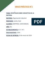 TRABAJO PRÁCTICO N°1 de Organizacion Industrial
