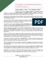 Aporte ecológico a la homilia del domingo - 1 Septiembre 2013 - Alejandro Londoño Posada, S.J.