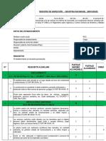 Registro de Inspección Haccp Puntaje