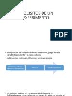Requisitos de Un Experimento