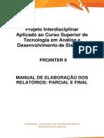 PROINTER II TADS_Manual de Elaboração e Ficha Descritiva