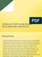 Teknologi Terapan Dalam Pelayanan Bbl Dan Balita