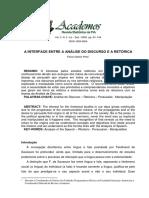 A INTERFACE ENTRE A ANÁLISE DO DISCURSO E A RETÓRICA.pdf
