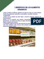 Los Enormes Beneficios de Los Alimentos Organicos