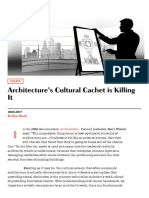 Architecture's Cultural Cachet is Killing It – Common Edge