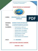 Monografia de Organizacion de Empresas