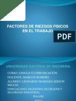 Riezgos Fisicos en El Trabajo PPT de EXPO.