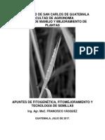 Unidad i La Fitogenética y El Mejoramiento de Plantas, Definiciones e Importancia