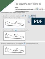 Modelagem de Sapatilha Com Fôrma 3d