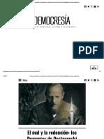 El Mal y La Redención_ Los Demonios de Dostoyevski _ Democresía - Revista de Actualidad, Cultura y Pensamiento