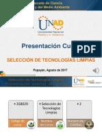 Presentacion Del Curso Selección de Tecnologías Limpias 358029