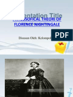 Phylosofical Theori of Florence Nightingale
