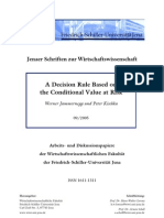 A Decision Rule Based on the Conditional Value at Risk