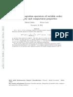 Fractional Integration Operator