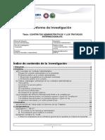 Contratos Administrativos y Los Tratados Internacionales