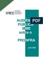 Audiencia Publica Sobre o Proinfa - 2003