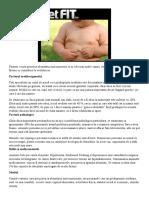 Cauzele supraponderalitatii