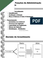 Administrão Financeira Decisao de Investimento