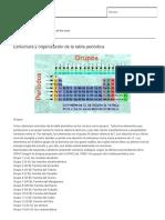 Estructura y Organización de La Tabla Periódica _ Quimica2013