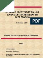 PÉRDIDAS ELÉCTRICAS EN LAS LÍNEAS DE TRANSMISIÓN EN ALTA TENSIÓN