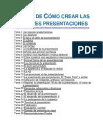 Curso de Cómo Crear Las Mejores Presentaciones