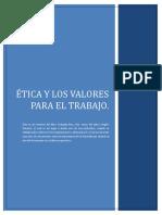 Etica y Valores Para El Trabajo