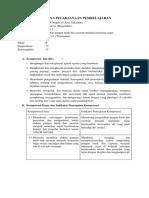 RPP Prakarya Pengolahan Minuman Segar KD.3.1 Dan 4.1