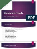 1. Manajemen Teknik