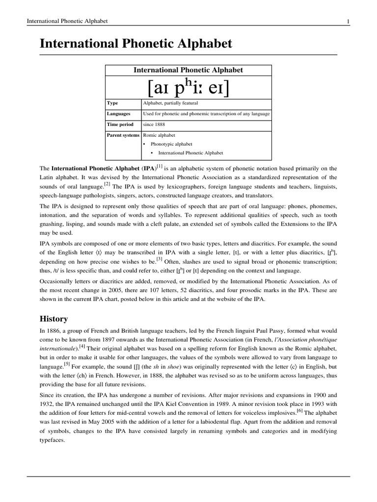 208081150-International-Phonetic-Alphabet-IPA pdf | Vowel