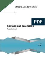 Contabilidad Gerencial II Modulo I Tarea
