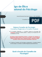 Código de Ética Profissional Do Psicólogo (Aula de Ética Profissional)