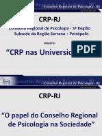 Apresentação Crp Para Quê - 2015 (Revisão 2.2)